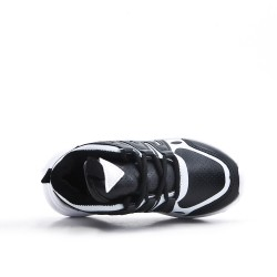 Black kid's sneaker with lace