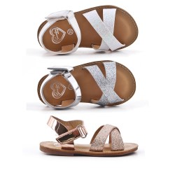 Girls sandal with sequined straps