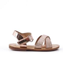 Sandale fille à brides pailletées