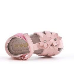 Sandale fillette à motif fleur