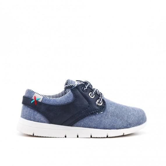 Zapato niño jean azul con encaje
