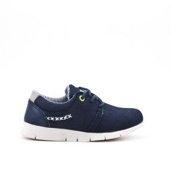 Dark bluejean child shoe with lace