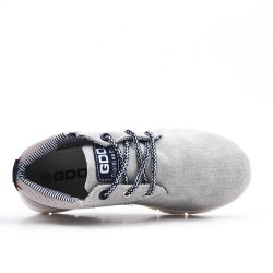 Gray jean child shoe with lace