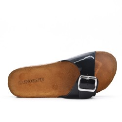 Available in 5color -Tong faux leather buckle