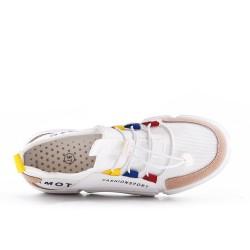 Basket multicolore à lacet