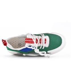 Multicolored lace-up tennis