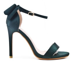 Green sandal with bow at the back