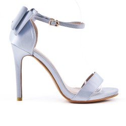 Gray sandal with bow at the back