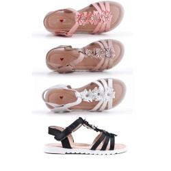 Sandale fille à fleur