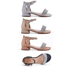 Sandale ornée de strass pour fille