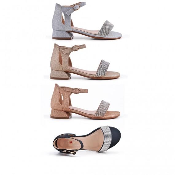 Sandal with rhinestones for girls