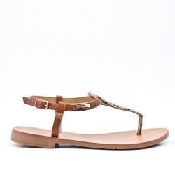 Leoprad imitation leather sandal
