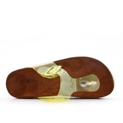 Tong amarillo con suela de confort