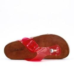 Tong rojo con suela de confort