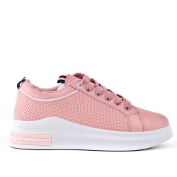 Pink lace-up basket