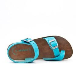 Sandalia blue de confort con tiras abrochadas