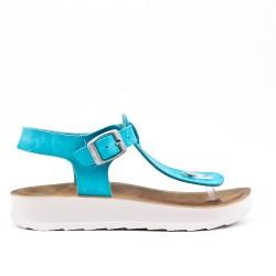 Tanga de sandalia blue con tiras abrochadas