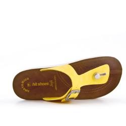 Tanga amarillo con tiras abrochadas