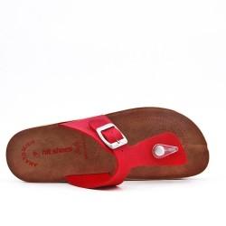 Tanga rojo con tiras abrochadas