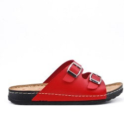 rojo comfort mule with buckled bridles