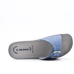 Blue glitter slate
