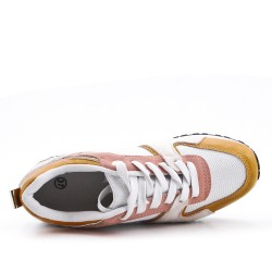 Multicolored lace-up Basket