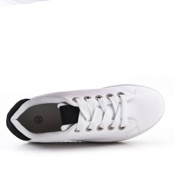 White tennis with thick soles