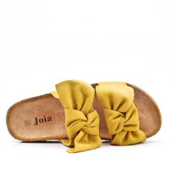 Disponible en 5 colores - Tong Faux Suede Bow