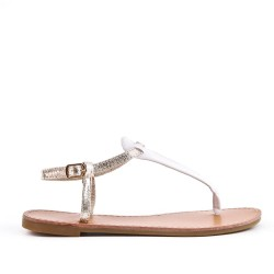 Golden imitation leather sandal