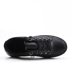 Black lace-up tennis