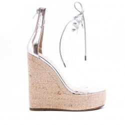 Clear sandal with wedge heel
