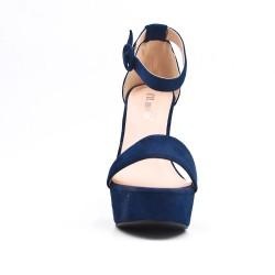 Sandalia de gamuza marino de imitación
