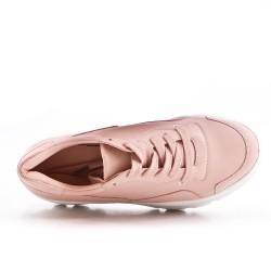Basket rose à lacet avec plateforme