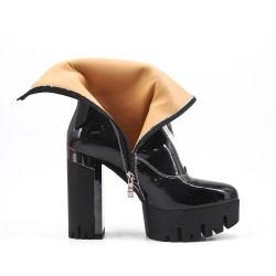 Ankle boot with platform heel