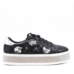 Tenis de flores negras