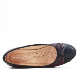 Escarpin confort rouge en simili cuir
