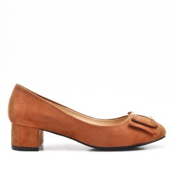 Zapatos de tacón de ante camel con tacón