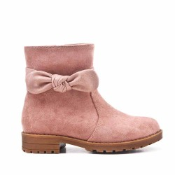 Pink girl boot with bow