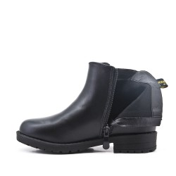 Black girl boot with star pattern