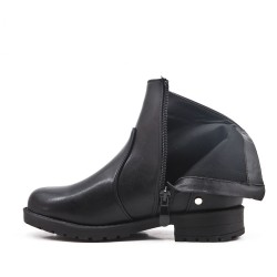 Black girl's imitation leather bootie