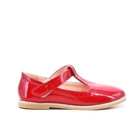 Bailarina chica rojo en barniz