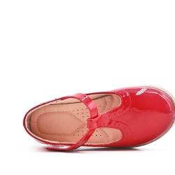 Ballerine fille rouge en vernis