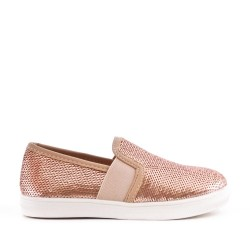 Champagne sequined girl's tennis