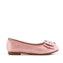 Bailarina de niña rosa con lazo de purpurina