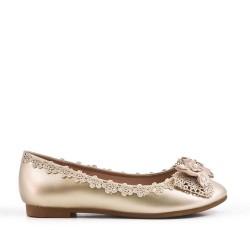 Bailarina oro con lazo adornado con perlas