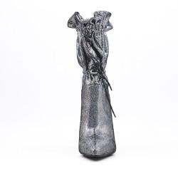 Botín gris con tacón de aguja