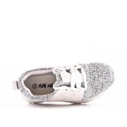 Cesta blanco para niña con encaje de diamantes de imitación
