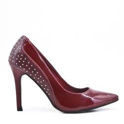 Red patent leather heels