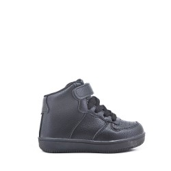 Black high-top sneaker for children
