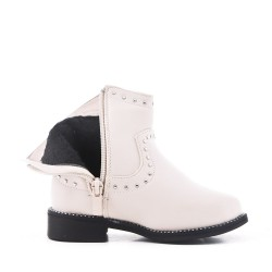White girl's imitation leather bootie